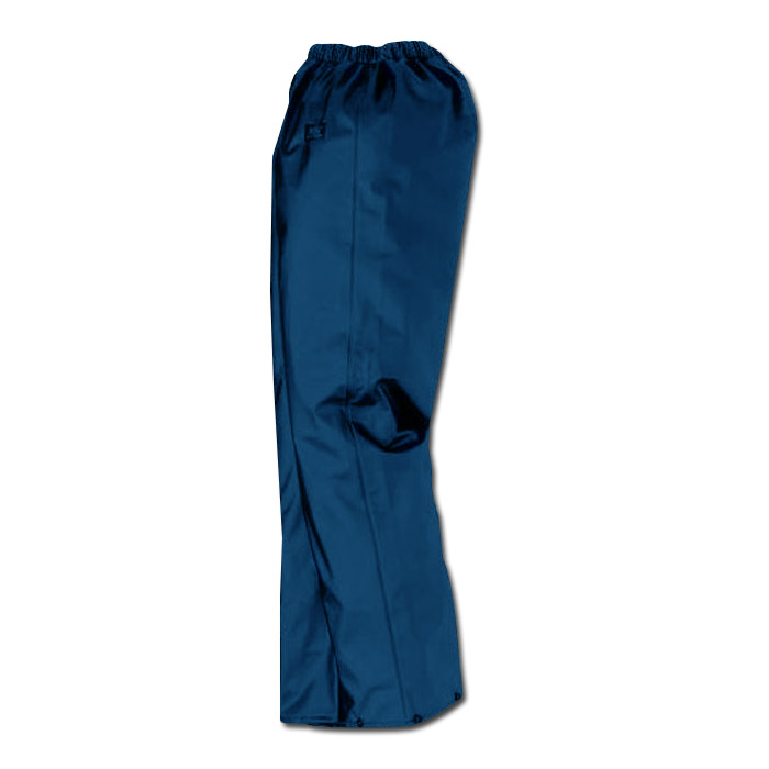 Regnbyxor - S-XXL - stretchig PU - marinblå