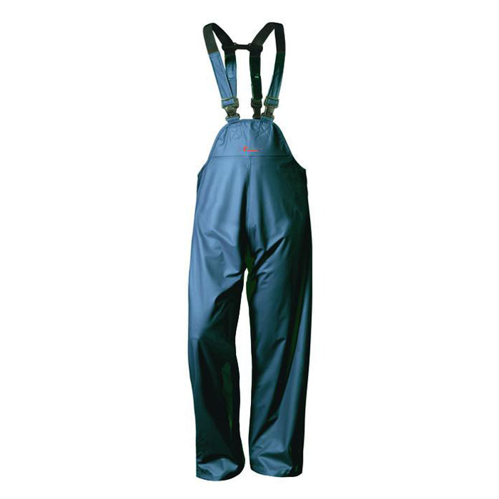 """PU-Rain Bib Overall """"LAHOLM"""" - PU On Polyester-Supporting Fabric - Color Marine"""