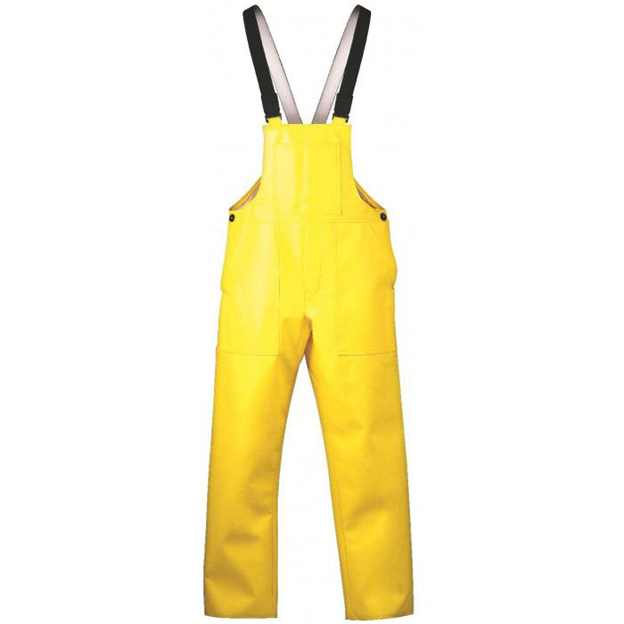 """Haren"" - PU Winter Rain Bib Overall - Yellow Color - DIN 61536"