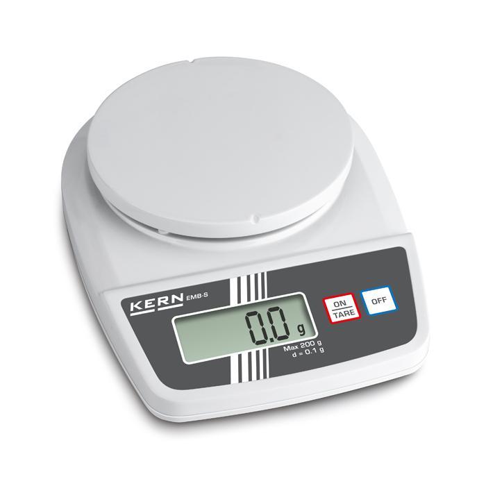 Waage - max. Wägebereich 0,2 bis 5 kg - Ablesbarkeit [d] 0,1 bis 1 g - VE 5 Stück