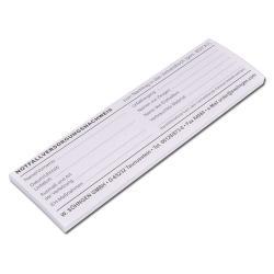 Notfallversorgungs- nachweis - Block mit 40 Blatt