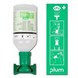 Ögonspolstation - med koksaltslösning - DIN 12930 - Plum