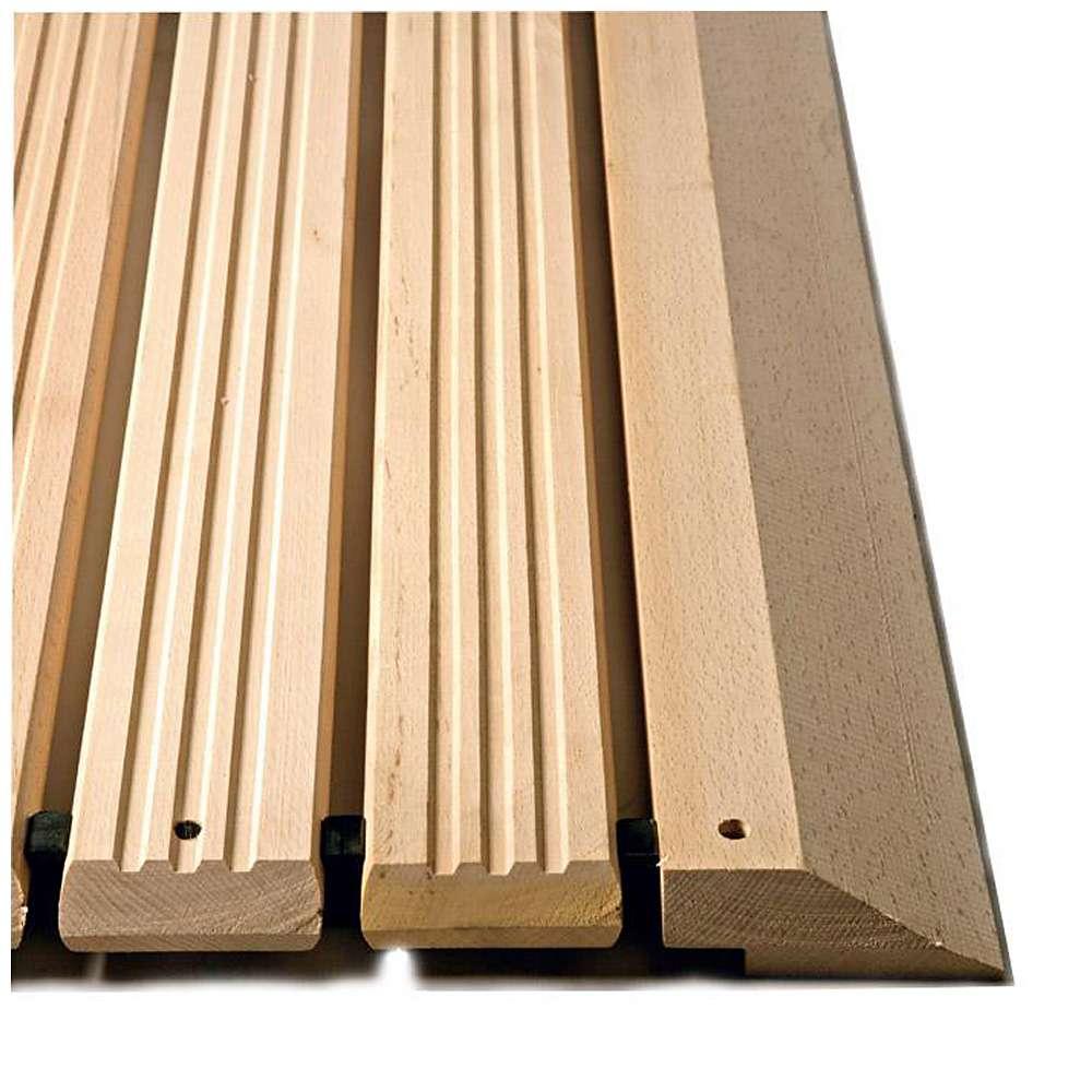 Yoga Holzrost® - Arbeitsplatzmatte - Typ F - massives Buchenholz - max. Länge 10 m - Preis per Meter