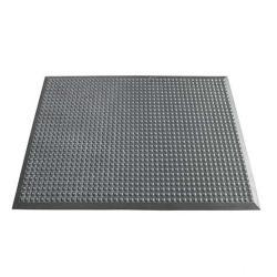 Arbetsplatsmatta yoga Ergonomi® - tjocklek 14 mm - grå - noppig