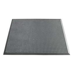 Arbetsplatsmatta yoga Ergonomie® B1 - 14 mm tjock - grå - knobbed