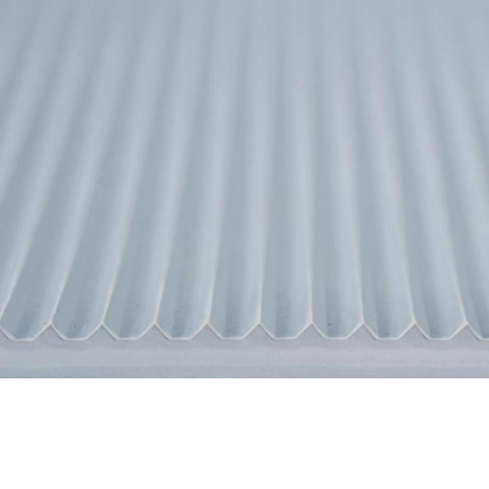 Arbeitsplatzmatte - Isoliermatte - gerieft/glatt - grau - Rollenware - Preis per Meter