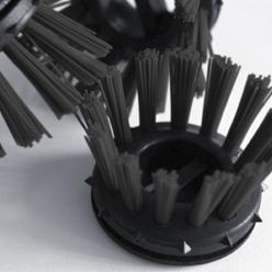 """Rundborstar - svart - för ringgummimatta """"Scriper"""" - 10 stycken"""