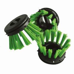 """Rundborstar - grön - för ringgummimatta """"Scriper"""" - 10 stycken"""