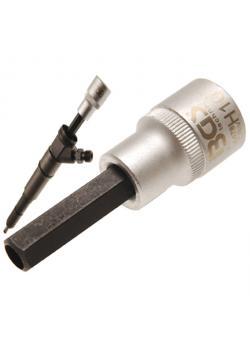 """Bit-Einsatz - 10 mm Innensechskant - für Injektor - 12,5 mm (1/2 """") Antrieb"""