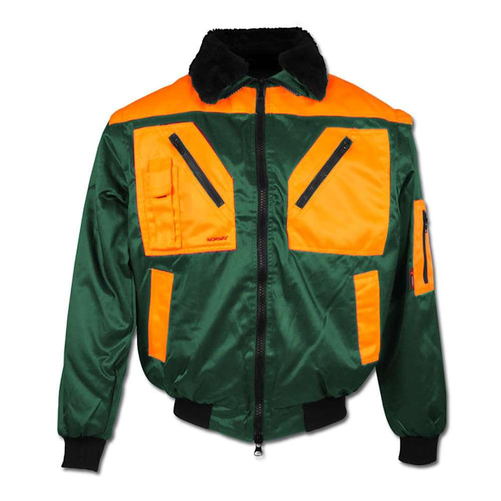"Forester Pilot Jacket ""ROTDORN"" - 60% Cotton/40% Polyester - Green/Orange"