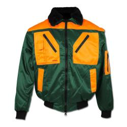 "Forester Pilot Jacket ""ROTDORN"" - 60% Cotton/40% Polyester - Green/Orange"