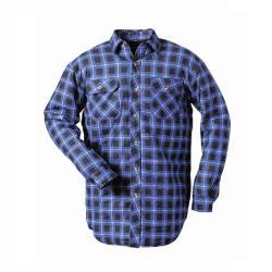 """Thermohemd """"HINNOY"""" - 100% Baumwolle - blau-kariert - Größe S-XXXL"""