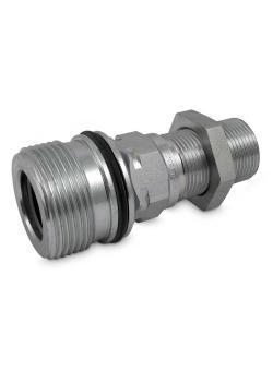 """Schraubkupplung Serie SK6-VSV - Stahl verchromt - zyl. AG M30 x 2 mm auf G 1"""" - DN 25 - PN 350 - nach ISO 14541"""