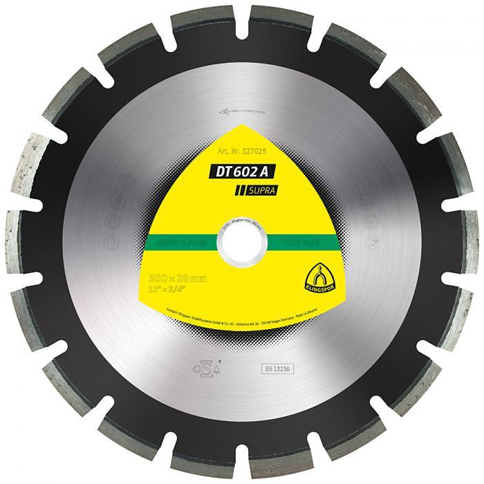 Diamanttrennscheibe DT 602 A - Durchmesser 300 bis 500 mm - Bohrung 20 bis 25,4 mm - lasergeschweißt - weit verzahnt
