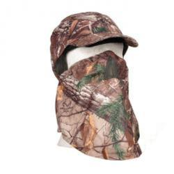 Jaktkeps med ansiktsmask - kamouflage - one size