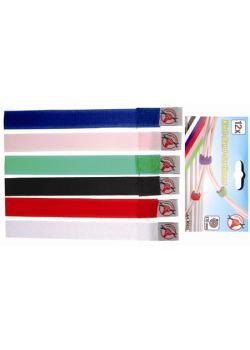 Klettband-Sortiment - farblich gekennzeichnet - 20 x 190 mm - 12-tlg.