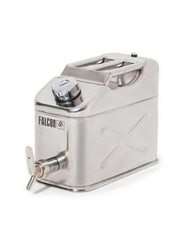 FALCON safety canister - stainless steel - with fine metering tap