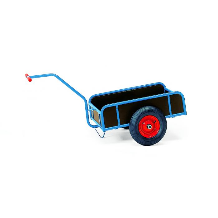 Hand cart with box - 1-axle with 4 walls - 250 mm high