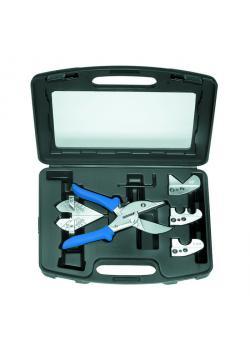 Scherensatz für Kunststoffrohre - verstellbar bis 45° - für Rohre bis 25 mm