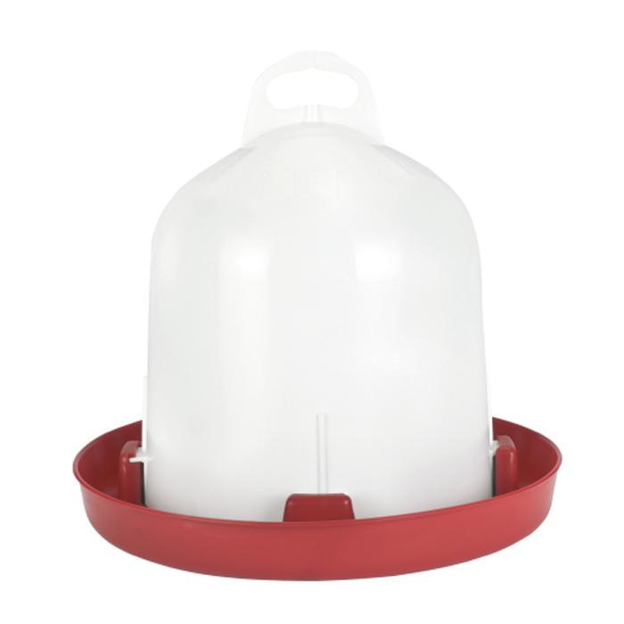 Kunststofftränke - Doppelzylinder für Hühner - 6 bis 12 l