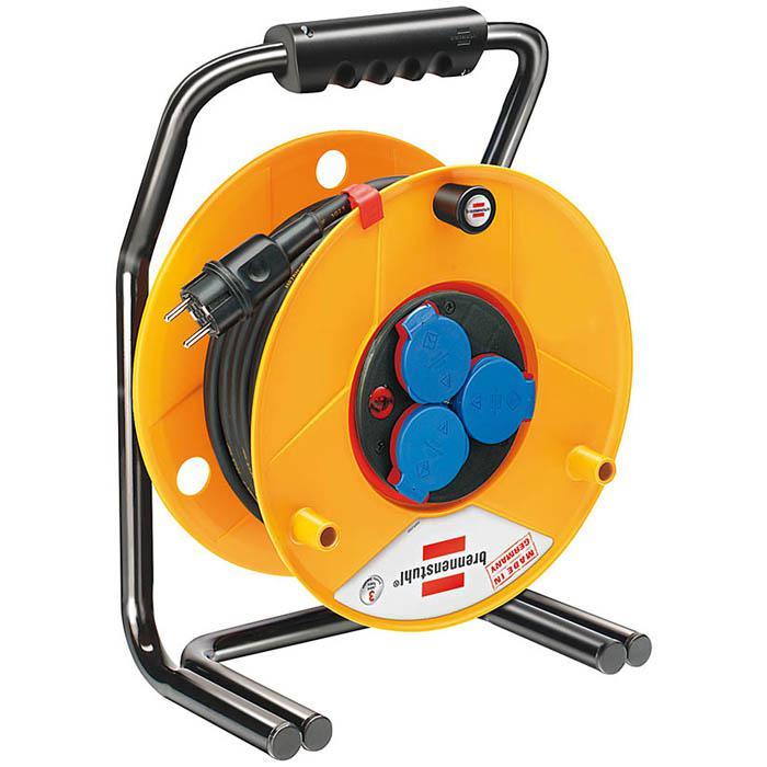 Brobusta® Bretec® IP 44 Gewerbe-/Baustellen-Kabeltrommel - 25-40 m - Gummi-Neopren