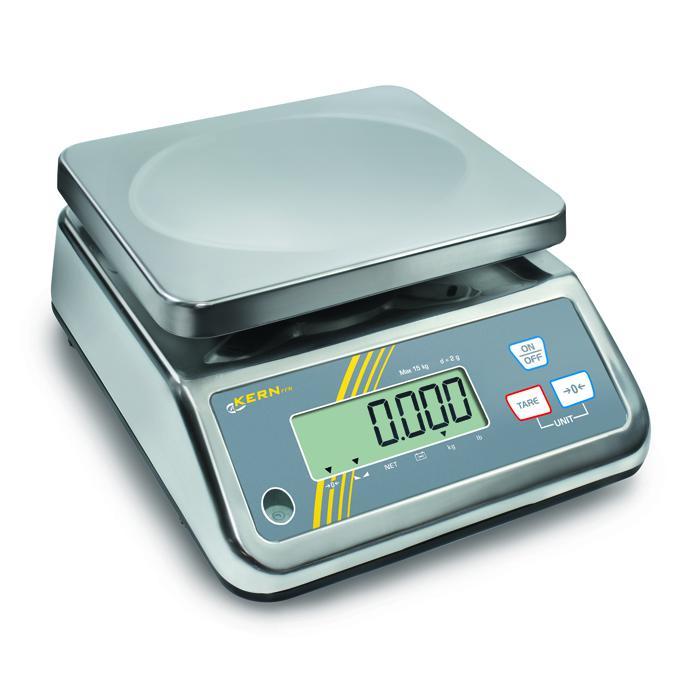 Tischwaage - max. Wägebereich 1,5 bis 25 kg - Eichzulassung - IP 65 geschützt