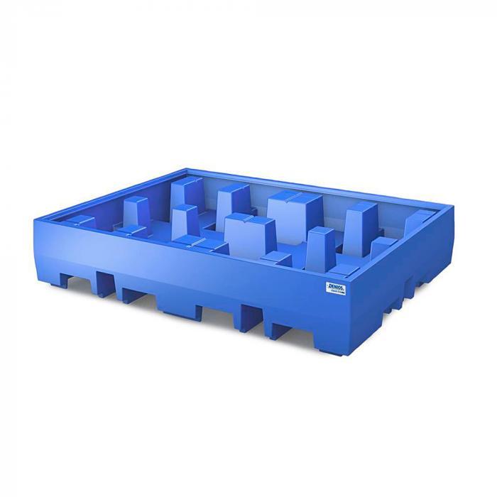 Auffangwanne PolySafe ECO - Polyethylen - Auffangvolumen 440 l - für 4 Fässer à 200 Liter