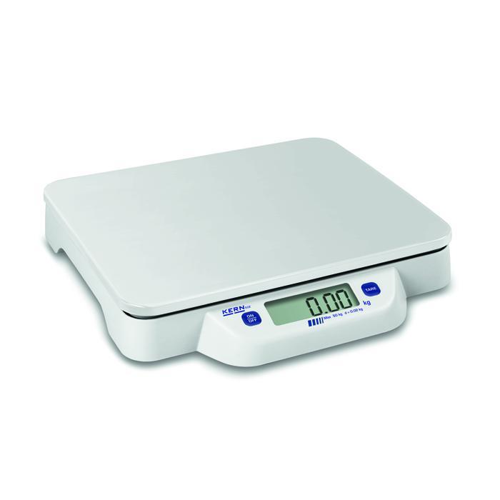 Waage - max. Wägebereich 10 bis 50 kg - Kunststoffwägeplatte - Tischwaage