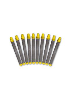 Pistol Plug Filter - Color yellow - 180 meshes - 0.14 mm MW - fine - Set of 10 pcs.