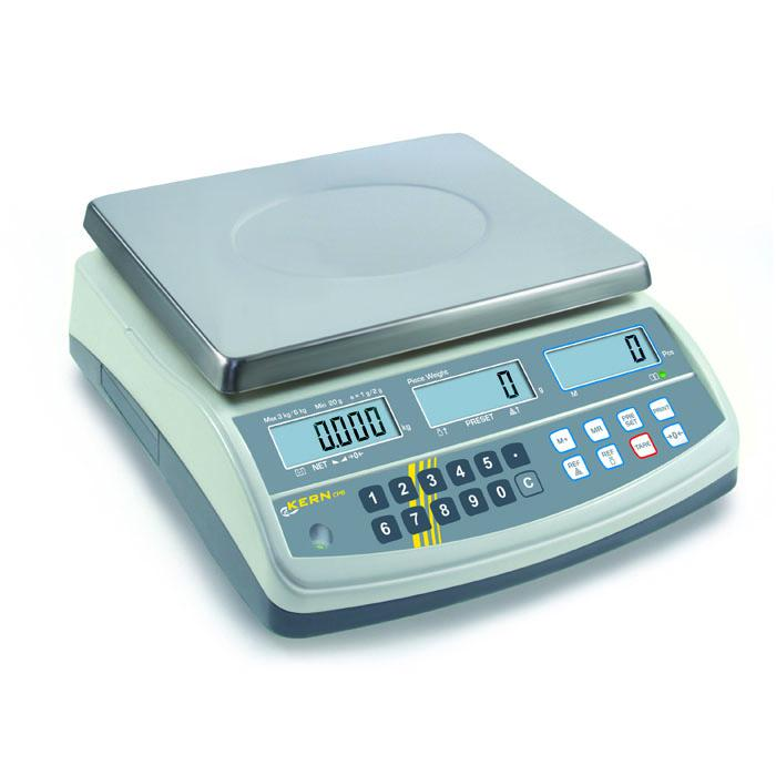 Waage - max. Wägebereich 6 bis 30 kg - Zählauflösung bis 60.000 Punkte