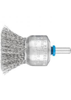 Pinselbürste - PFERD PBU 3029/6 INOX 0,20 - ungezopft, mit Schaft - Bürsten-Ø 30 mm - VE 10 Stück - Preis per VE