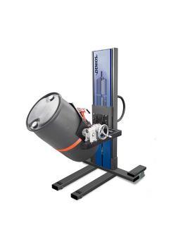 Sollevatore fusti Secu Drive tipo W - telaio stretto - sollevamento elettrico - girevole - per fusti da 60 a 220 l
