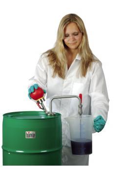 Handpumpe für Lösungsmittel - Edelstahl/Teflon - 10 l/min - Eintauchtiefe 60 cm
