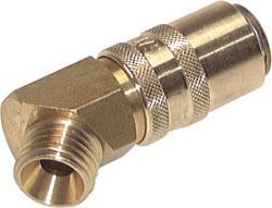 Snabbkoppling - DN 9 - med utvändig gänga - 45° - till +200°C