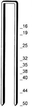 """Heftklammer """"Typ L"""" - verzinkt, stark verzinkt - 16-50 mm lang"""