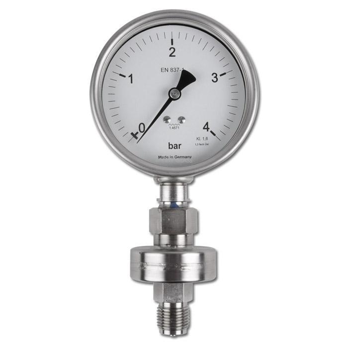 Manometer - Messbereich bis 10 bar - Klasse 1,6 D 55mm - Abgang unten - Gerät ge