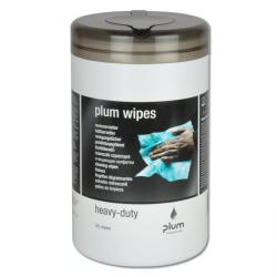 "Rengöringsdukar ""Plum Wipes Heavy Duty"" - envis smuts - 50 stycken"