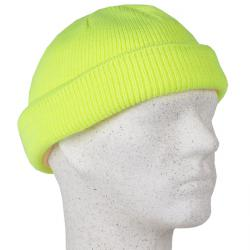 "Varselmössa ""ERWIN"" - 100% polyakryl - fluorescerande gul"