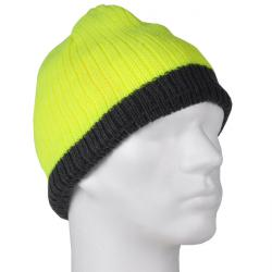 """Warnschutz-Mütze """"MARIUS"""" - 100% Polyacryl - fluoreszierend gelb"""
