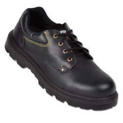 """Restposten - Arbeiter-Halb-Schuhe """"Cordoba"""" - Schaft aus Rindglattleder - EN ISO 20345 S3 - Größe 46 - Weite 11 - schwarz"""