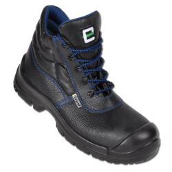 Arbetskängor - läder - svart/blå - EN ISO 20345 S3