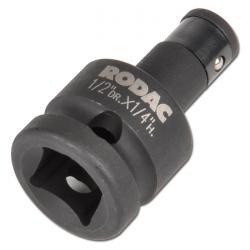 """Bitadapter """"CR-MO"""" - 1/2"""" rund auf 1/4"""" vierkant - Länge 46 mm"""