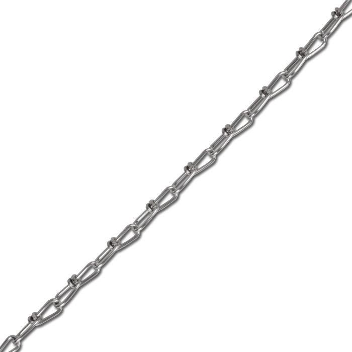 Edelstahl-Knotenkette - DIN 5686 - A2 - 1.4303 - Bundware - Rostfrei