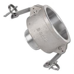 """Camlokreduzierkupplung Typ B - Mutterteil - Alu - Gewinde 1/2"""" bis 3"""" - Norm nac"""