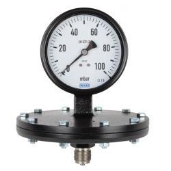 Manomètre - classe 1,6 Ø100mm - manomètre à diaphragme ondulé - prélèvement en d