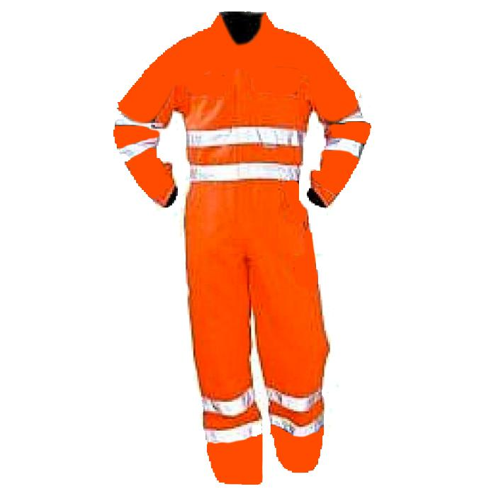Varseloverall - stl. 64 - blandväv - EN 471 klass 3 - orange