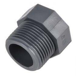 Reducernippel PVC-U - kort modell (bara för plastgängor)
