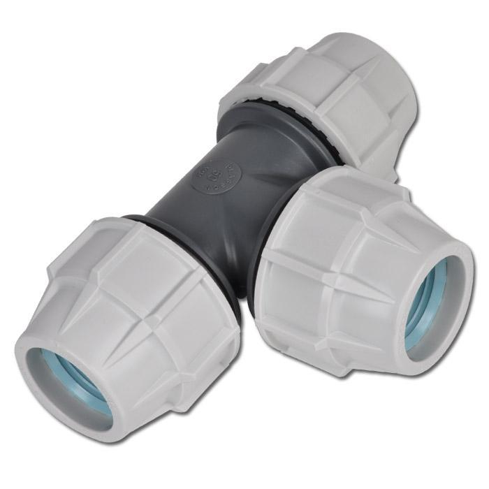T-Stück PE für PEX Rohr 90°