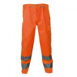 Restposten - Bundhose - Gr. 46 - orange - 85 % PES - 15 % CO - EN 26330 - Gürtel mit Metallschnalle