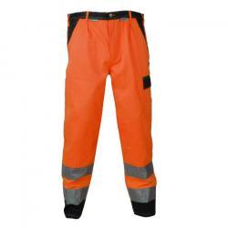 Restposten - Bundhose - 85% PES - 15% CO - EN 26330 - Gürtel mit Metallschnalle - orange/marine - Größe 28